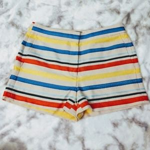 🦄 j. Crew colorful striped shorts